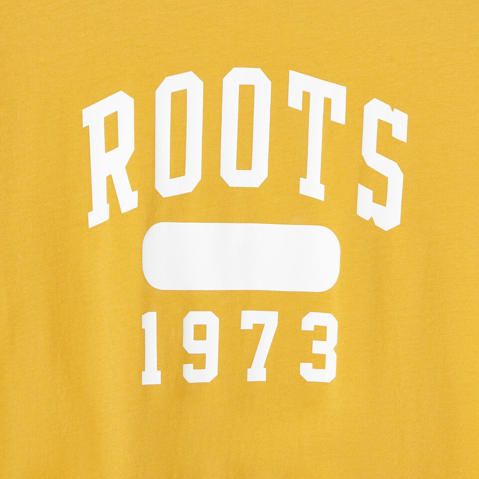 Roots-New For July Daily Offer-Womens Block 1973 Canada T-shirt-Medallion-D