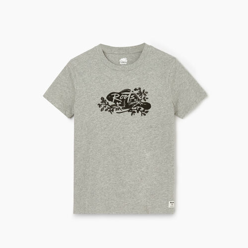 Roots-Women Graphic T-shirts-Womens Cooper Script T-shirt-Grey Mix-A