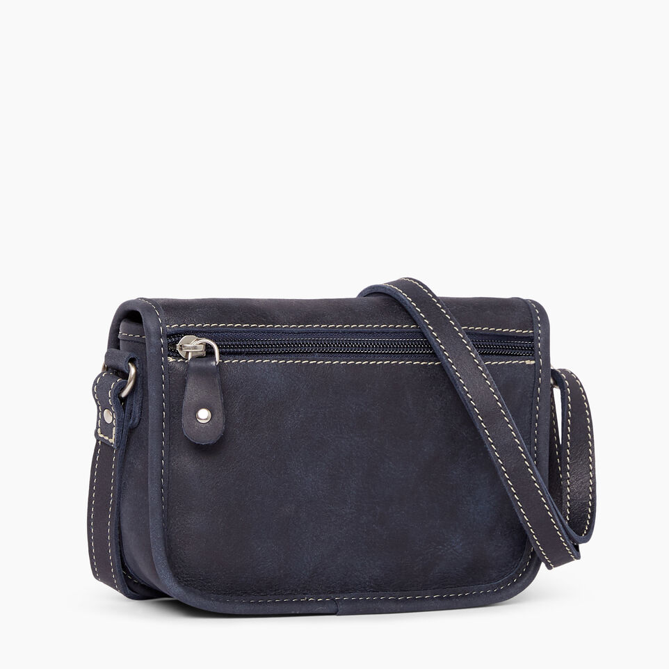 Roots-Clearance Leather-Angelina Bag Tribe-Dark Navy-C