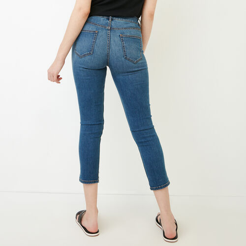 Roots-Women Our Favourite New Arrivals-Cropped Stretch Riley Jean-Med Denim Blue-D