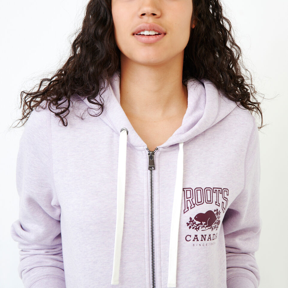 Roots-Women Categories-Classic Full Zip Hoody-Lupine Mix-E