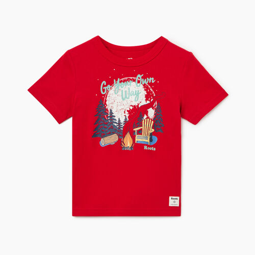 Roots-Kids Toddler Boys-Toddler Roots Camp T-shirt-Sage Red-A