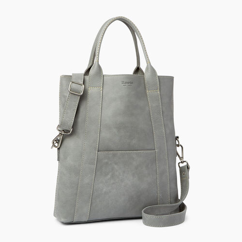 Roots-Leather  Handcrafted By Us Handbags-Annex Tote-Quartz-A