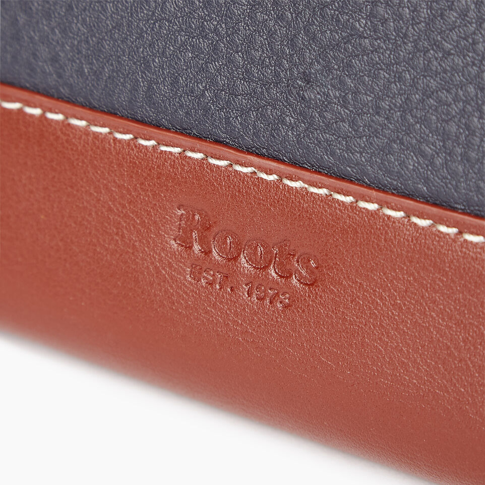 Roots-Leather Our Favourite New Arrivals-Small Zip Wallet-Ultramarine/oak-E