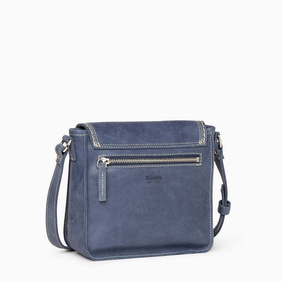 Roots-Leather New Arrivals-Canmore Crossbody Tribe-Navy-C