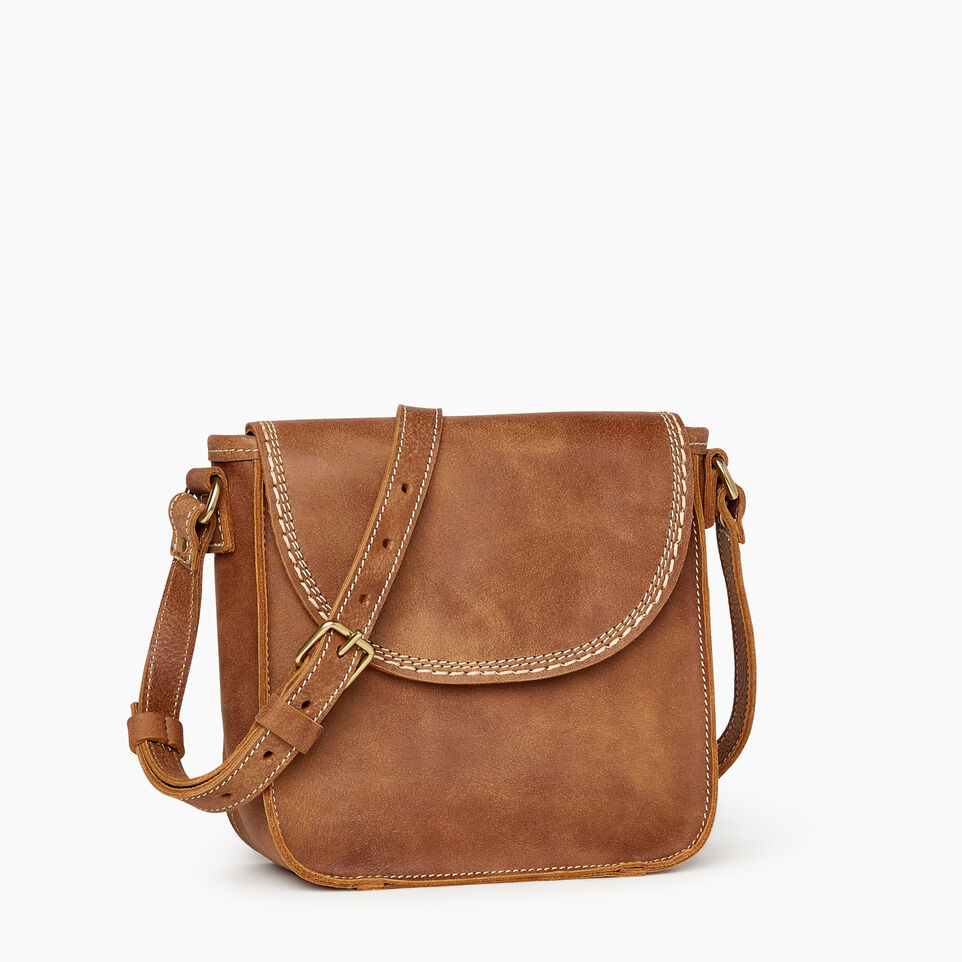 Roots-Leather Handbags-Canmore Crossbody Tribe-Natural-A