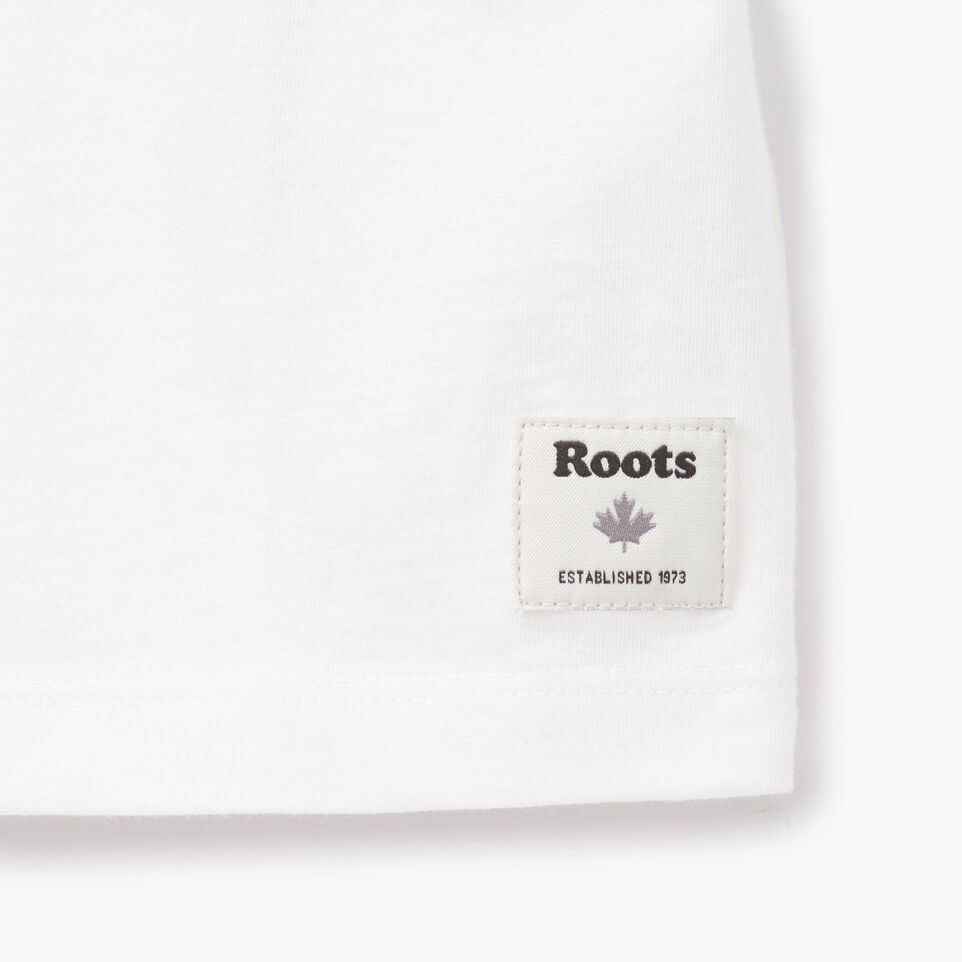 Roots-Clearance Kids-Girls Heart Ringer T-shirt-Ivory-C