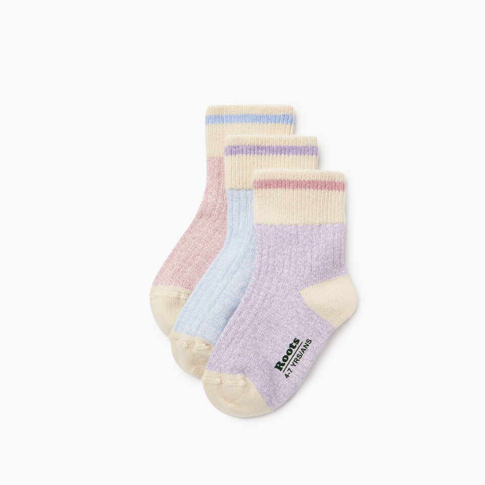 Roots-undefined-Kids Cotton Cabin Ankle Sock 3 Pack-undefined-B
