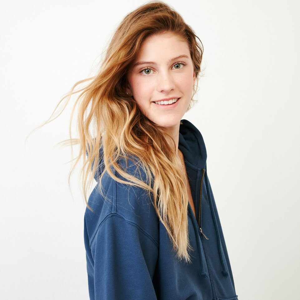 Roots-Women Our Favourite New Arrivals-Kelowna Full Zip Hoody-Sargasso Sea-E