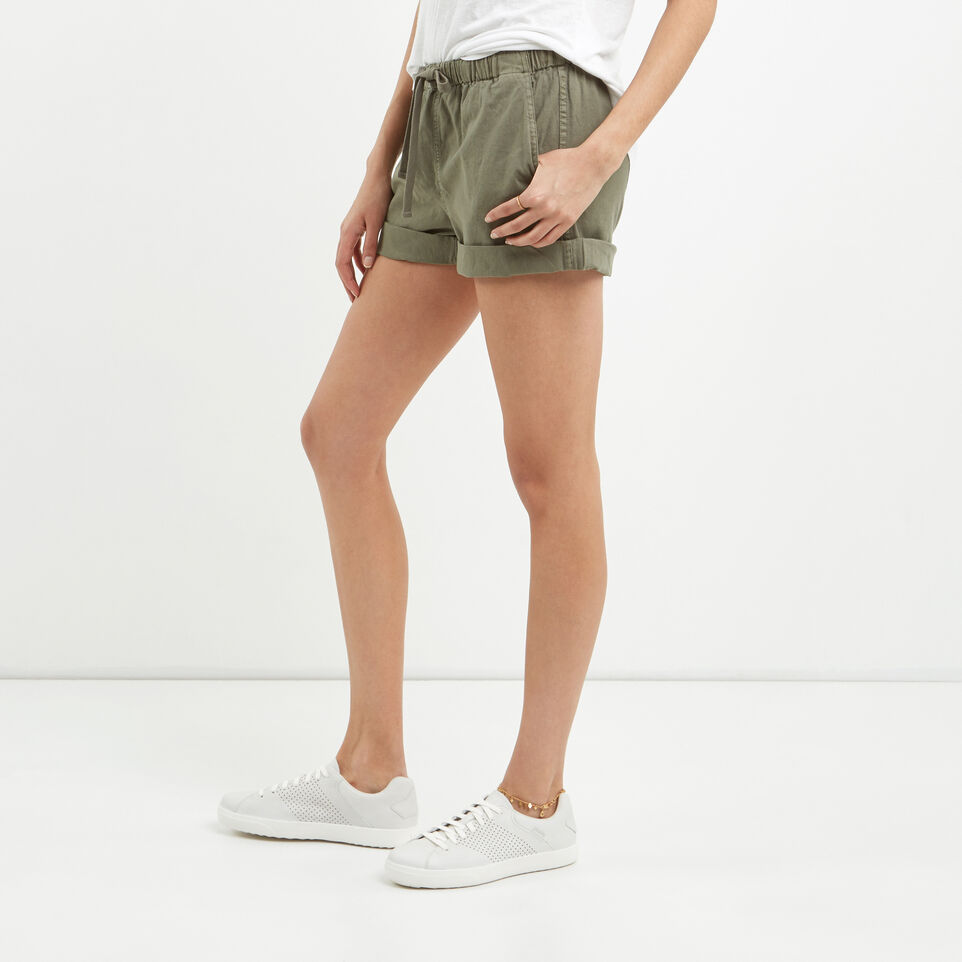 Roots-Clearance Women-Woodland Short-Dusty Olive-B