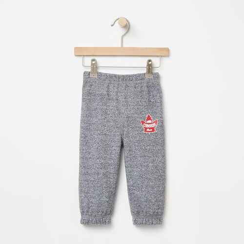 Roots-Kids Collections-Baby Heritage Canada Original Sweatpant-Salt & Pepper-A