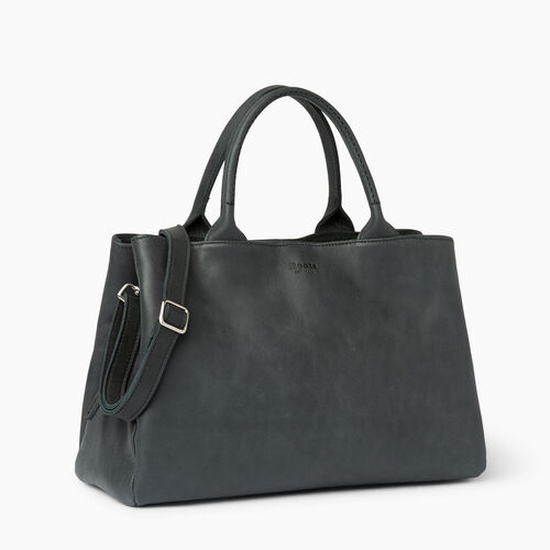 Roots-Leather  Handcrafted By Us Handbags-Mont Royal Bag-Jet Black-A