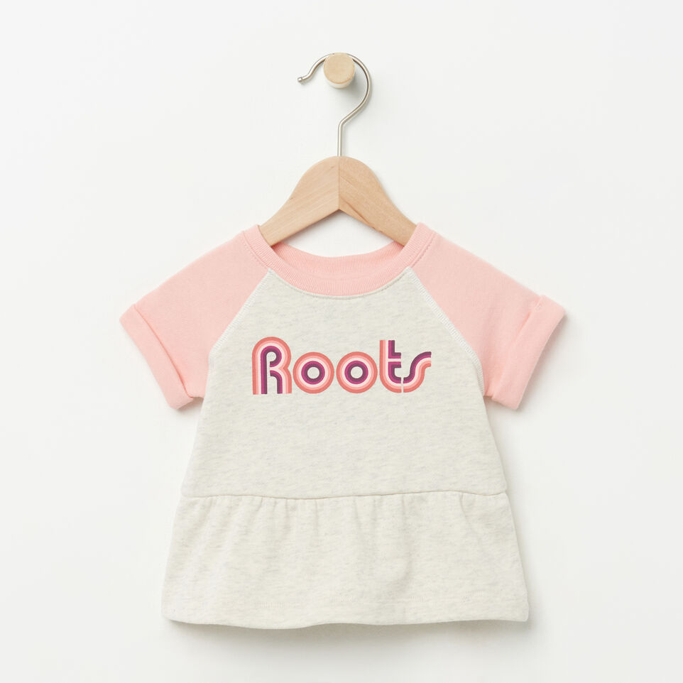 Roots-Baby Short Sleeve Peplum Crew