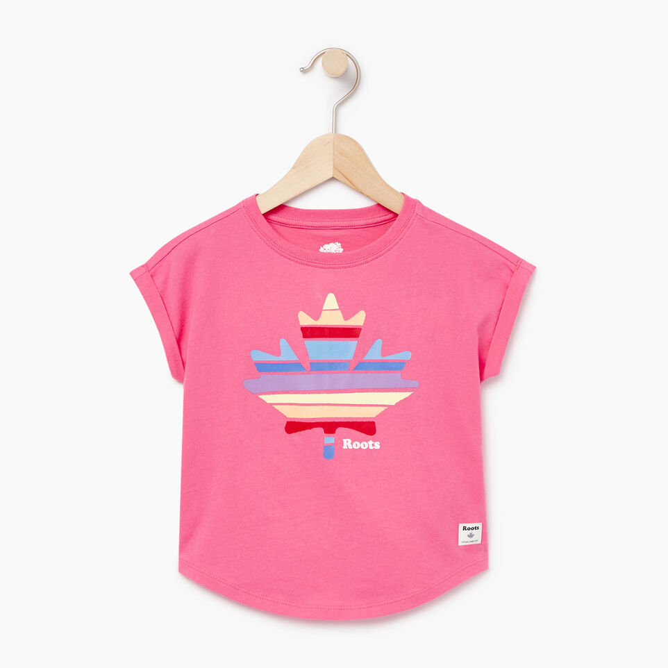 Roots-Kids Our Favourite New Arrivals-Toddler Camp T-shirt-Azalea Pink-A