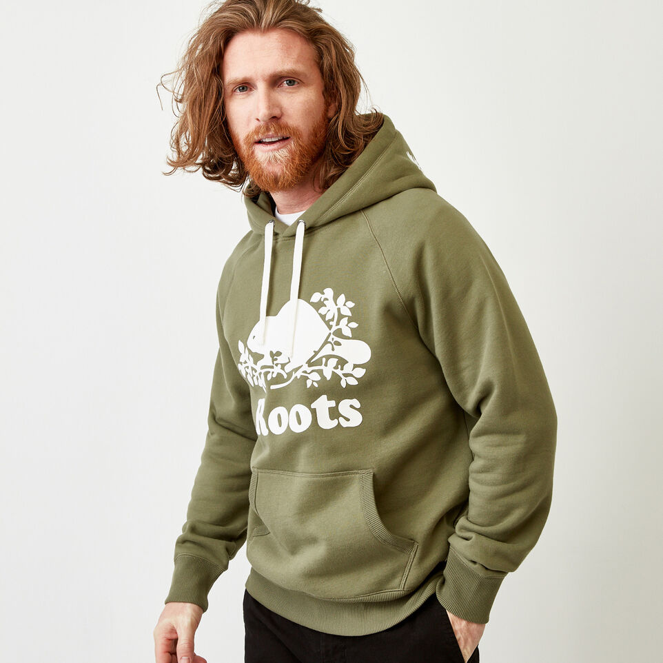 Roots-Men Sweats-Original Kanga Hoody-Lichen-A