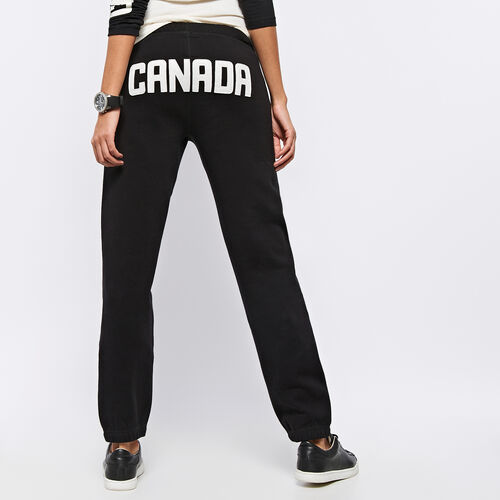 Roots-Women Original Sweatpants-Womens Heritage Canada Original Sweatpant-Black-A