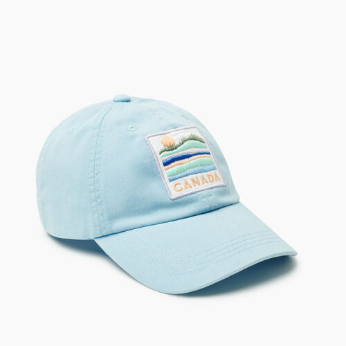 Roots-Women New Arrivals-Canada Patch Baseball Cap-Clean Air-A