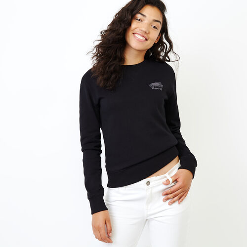 Roots-Women Our Favourite New Arrivals-Roots Breathe Crew Sweatshirt-Black-A