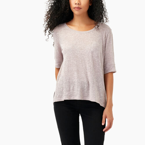 Roots-Sale Women-Ember Pocket Top-Dark Lilas Mix-A