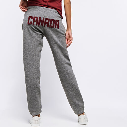 Roots-Women Collections-Womens Heritage Canada Original Sweatpant-Salt & Pepper-A