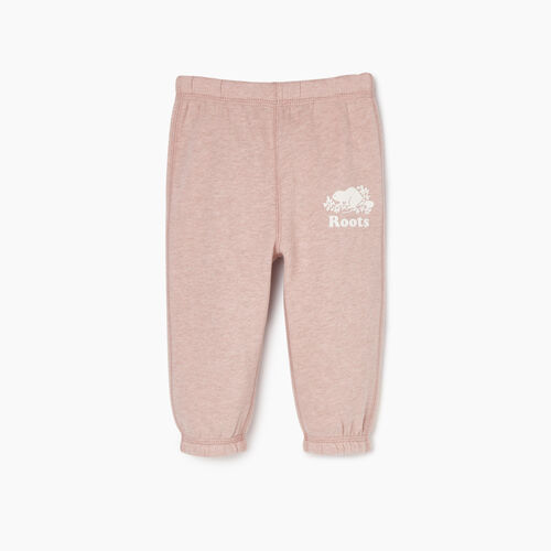 Roots-Kids New Arrivals-Baby Original Roots Sweatpant-Deauville Mauve Mix-A