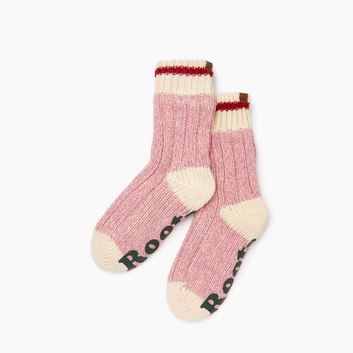 Roots-Kids Girls-Kids Cabin Lounge Sock-Cashmere Rose Pepper-A