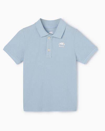 Roots-Kids Tops-Toddler Heritage Pique Polo-Celestial Blue-A