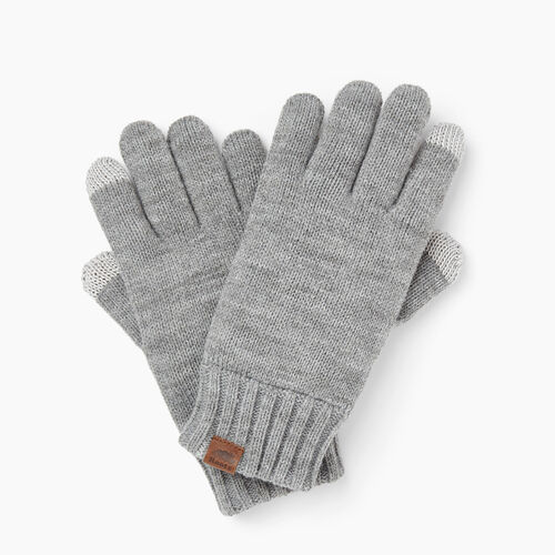 Roots-Clearance Men-Touchscreen Glove-Grey Mix-A
