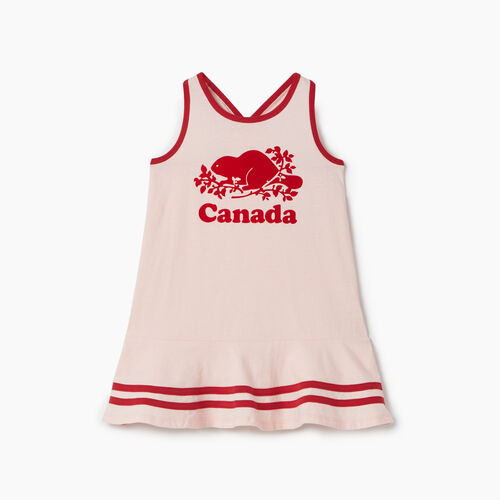 Roots-Kids Dresses-Toddler Canada Tank Dress-English Rose-A