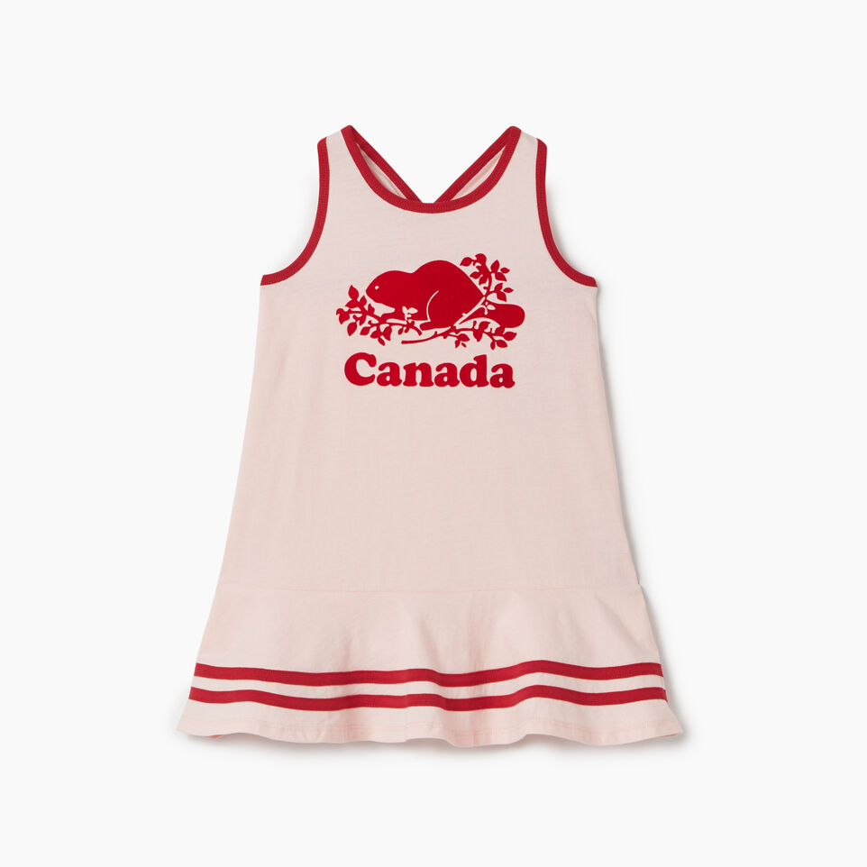Roots-Kids Canada Collection-Toddler Canada Tank Dress-English Rose-A
