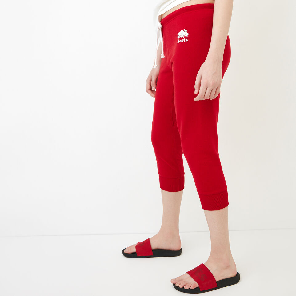 Roots-Women Our Favourite New Arrivals-Tyne Capri-Sage Red-C