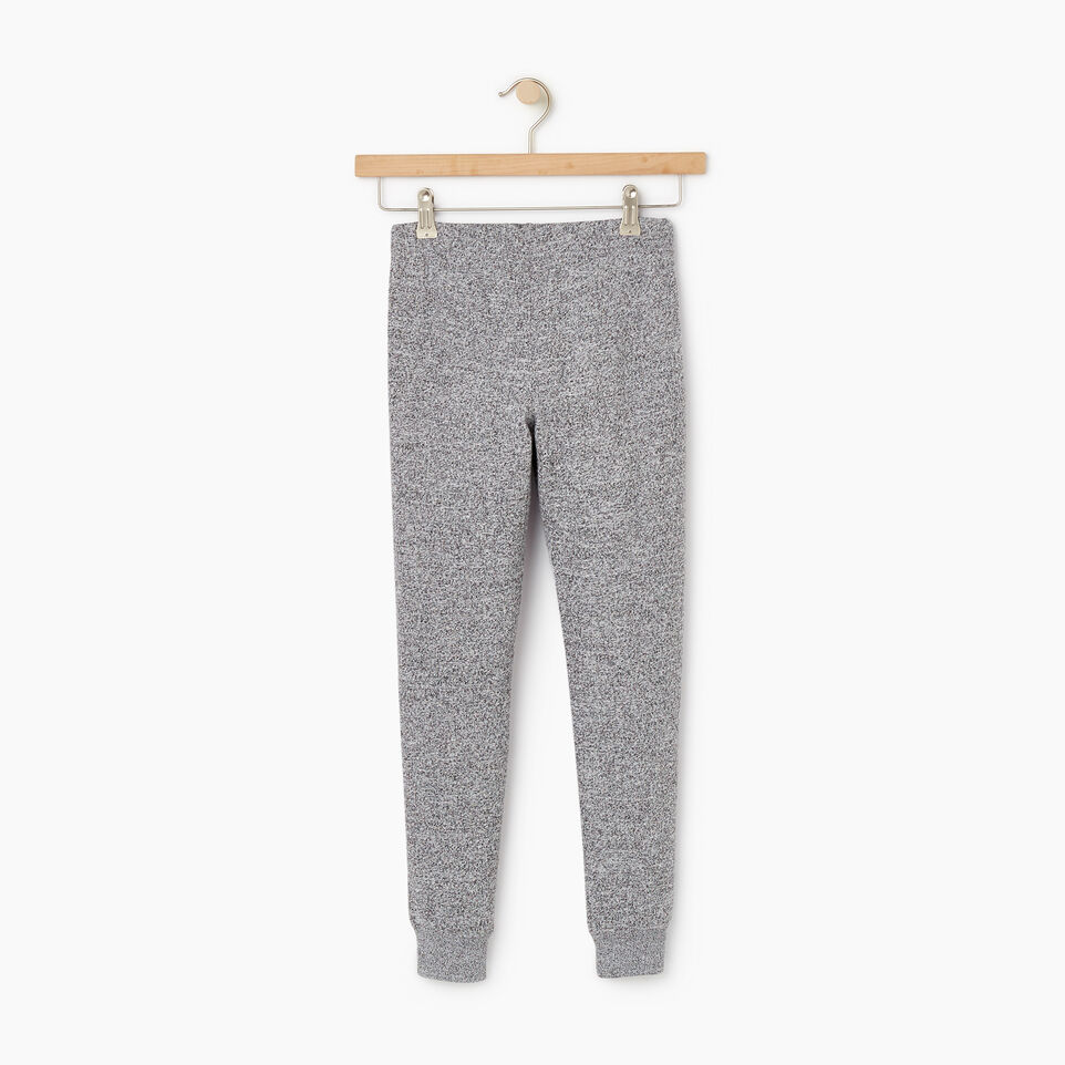 Roots-Kids New Arrivals-Girls Slim Cuff Sweatpant-Salt & Pepper-B