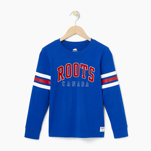 Roots-Kids Bestsellers-Boys Arch Roots Top-Kings Blue-A