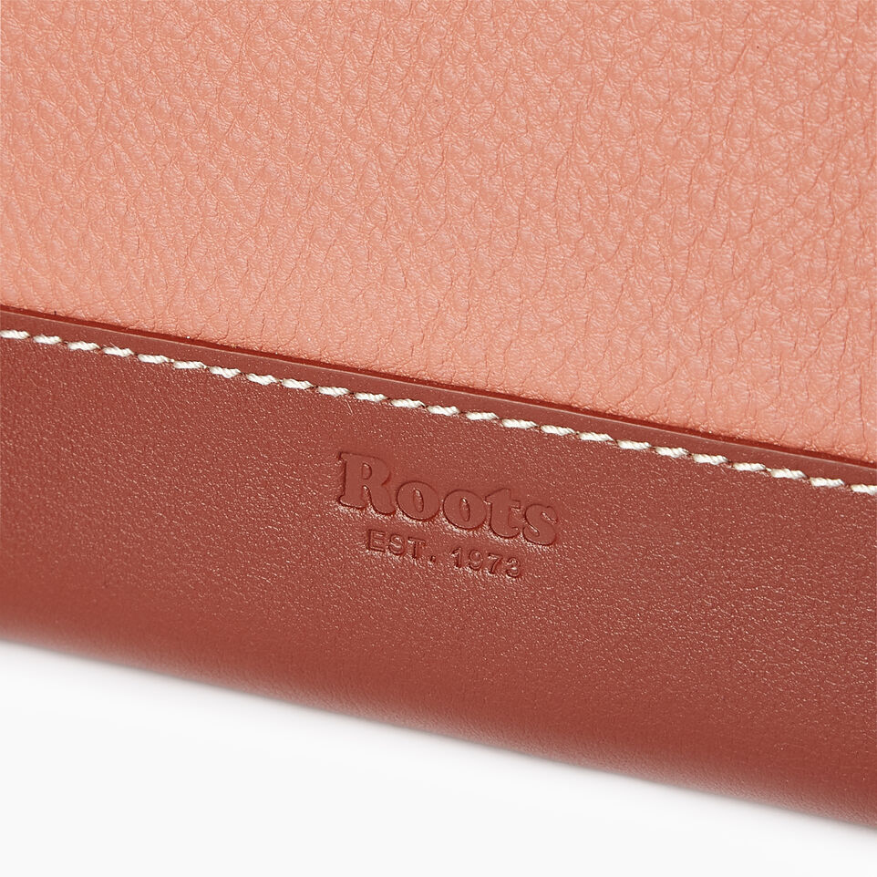 Roots-Leather Categories-Zip Around Wallet-Canyon Rose/oak-E