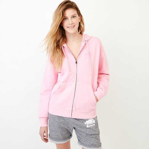 Roots-Women Categories-Kelowna Full Zip Hoody-Pink Mist-A