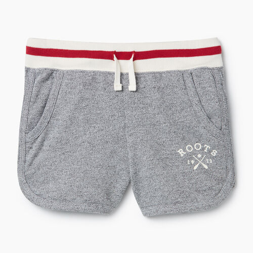 Roots-Kids New Arrivals-Girls Cabin Short-Light Salt & Pepper-A