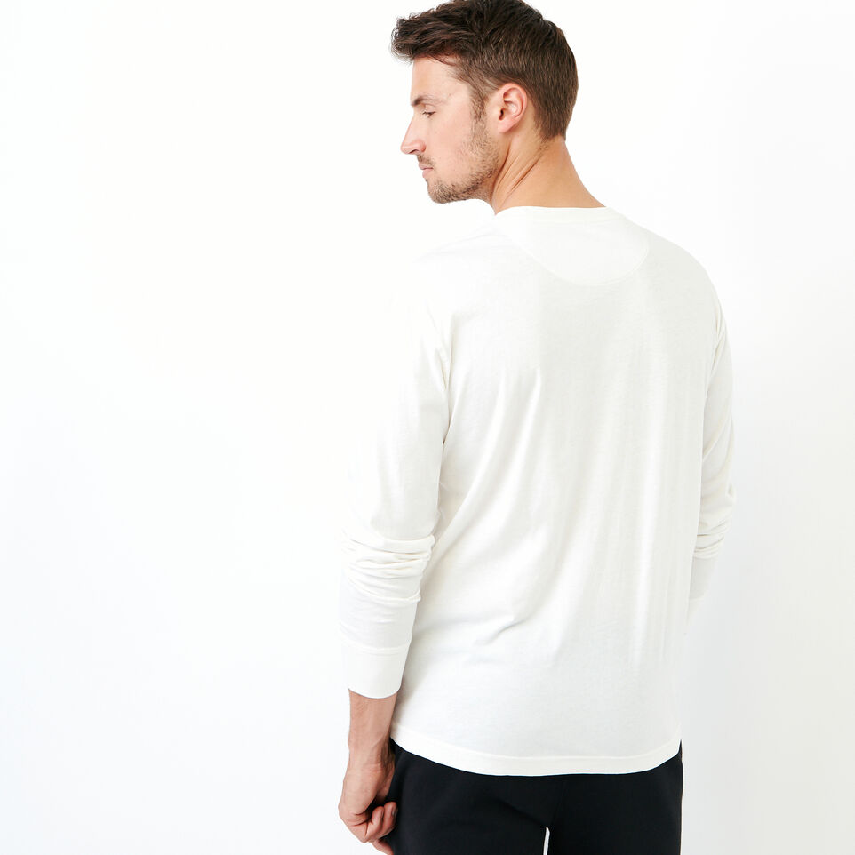 Roots-Men Our Favourite New Arrivals-Essential Pocket Longsleeve T-shirt-Ivory-D