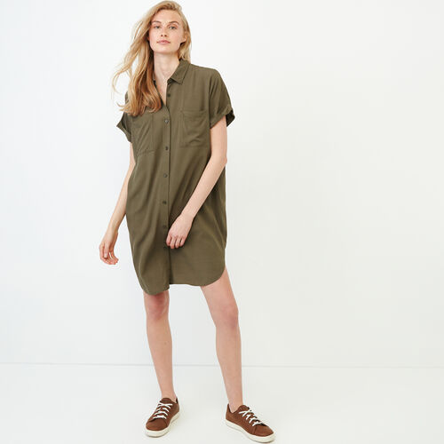 Roots-Women Categories-Alder Flat Dress-Fatigue-A