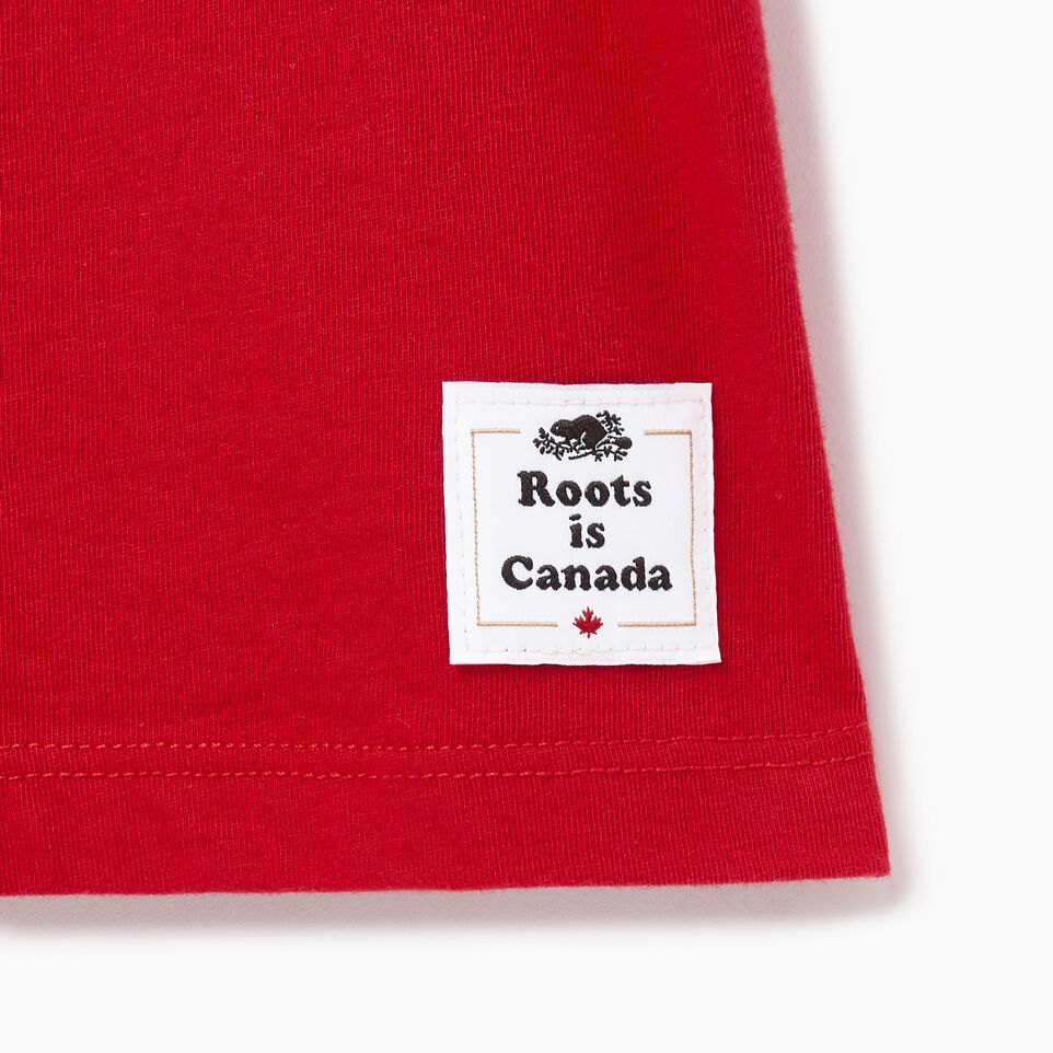 Roots-New For August Canada Collection By Roots™-Womens Roots Canada T-shirt-Sage Red-C