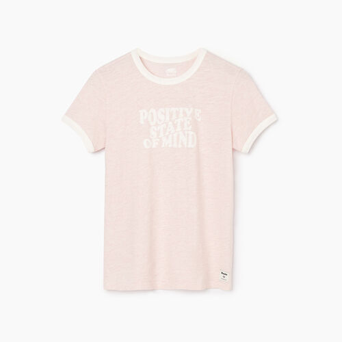 Roots-Women Graphic T-shirts-Womens Soleil T-shirt-Silver Pink Mix-A