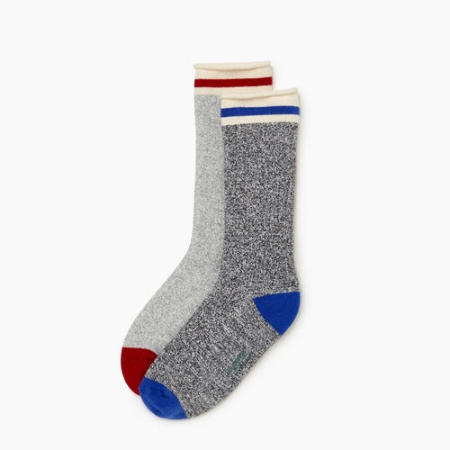 Roots-Kids Accessories-Kid Cabin Roll Sock 2 Pack-Blue Mix-A