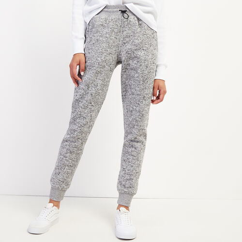 Roots-Women Slim Sweatpants-Ormont Sweatpant-Salt & Pepper-A