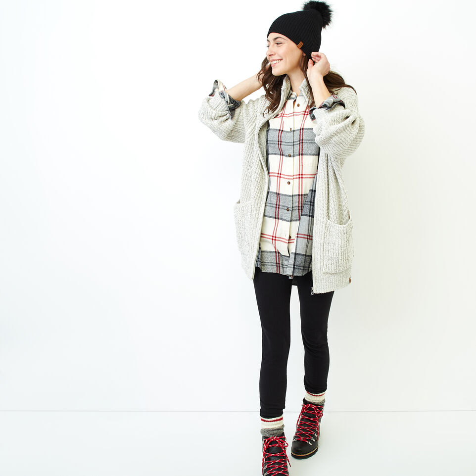 Roots-Women Our Favourite New Arrivals-Snowy Fox Zip Coatigan-Snowy Fox-B