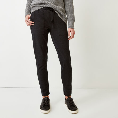 Roots-Women Bottoms-Kelby Jogger-Black Mix-A