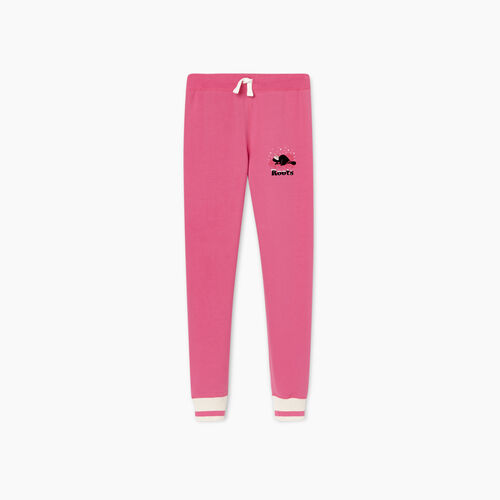 Roots-Kids New Arrivals-Girls Buddy Cozy Fleece Sweatpant-Carmine Rose-A