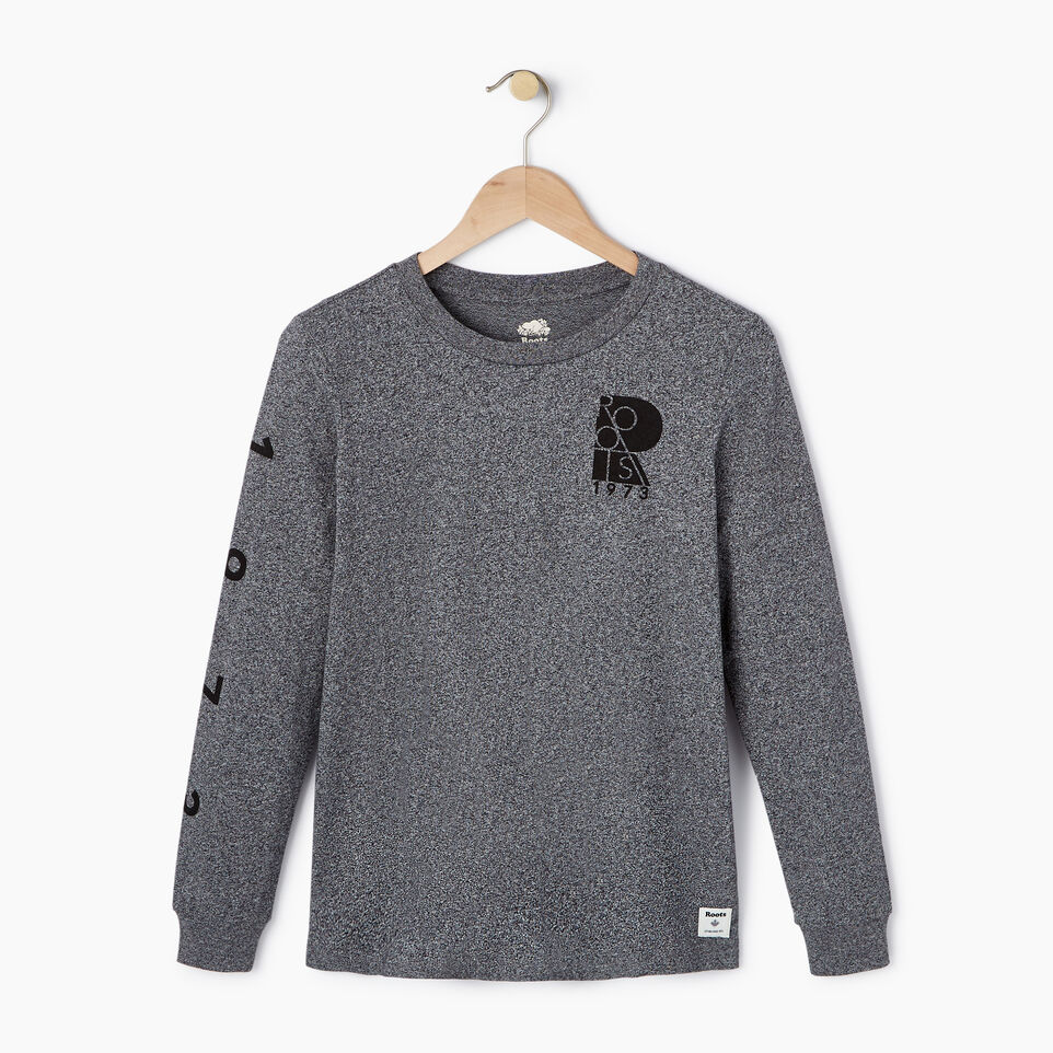 Roots-New For July Daily Offer-Womens Kamloops Long Sleeve-Salt & Pepper-A