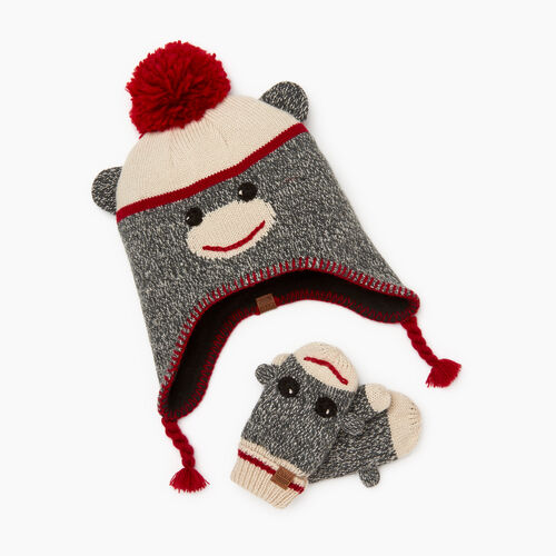 Roots-Kids Toddler Boys-Toddler Cabin Monkey Gift Set-Grey Oat Mix-A