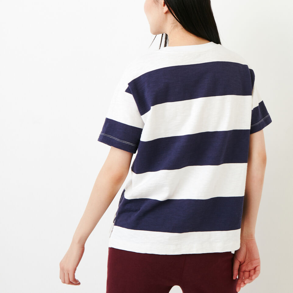 Roots-Women Categories-Fraser Stripe Top-Eclipse-D