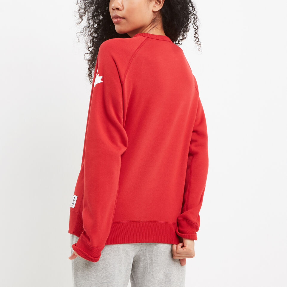 Roots-Women Canada Collection By Roots™-Womens Cooper Canada Crewneck Sweatshirt-Sage Red-D