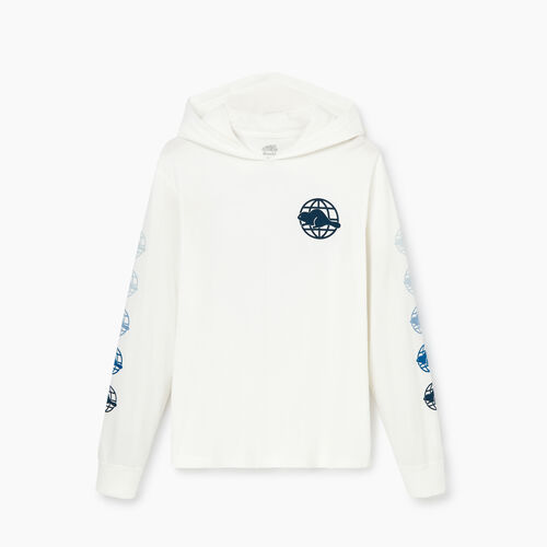 Roots-Sale Men-Mens Global Roots Long Sleeve Hoody T-Shirt-Ivory-A